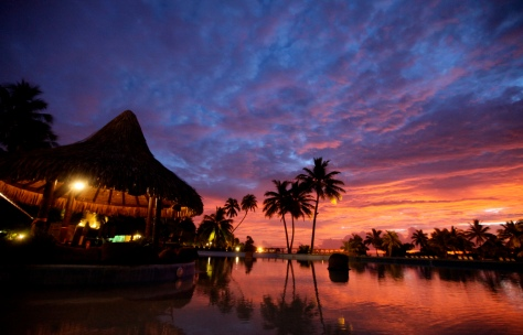 Tahiti-sunset