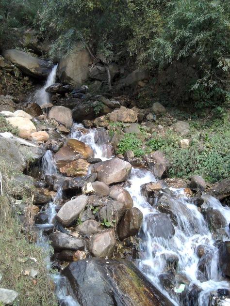 The natural waterfall