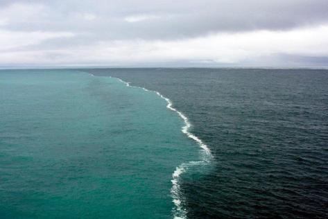 confluence of two oceans in The Gulf of Alaska