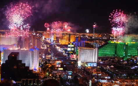 Las Vegas New Year's celebration ilovetravellingandexploring