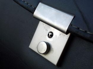 a suitcase lock